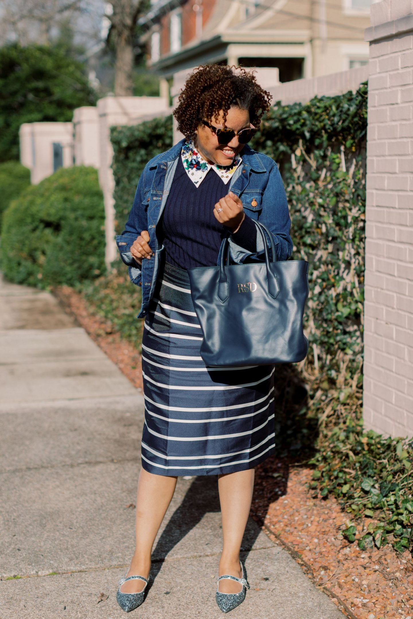 J Crew Tippi Sweater with Embellished Collar styled by top Kentucky fashion blogger, Really Rynetta