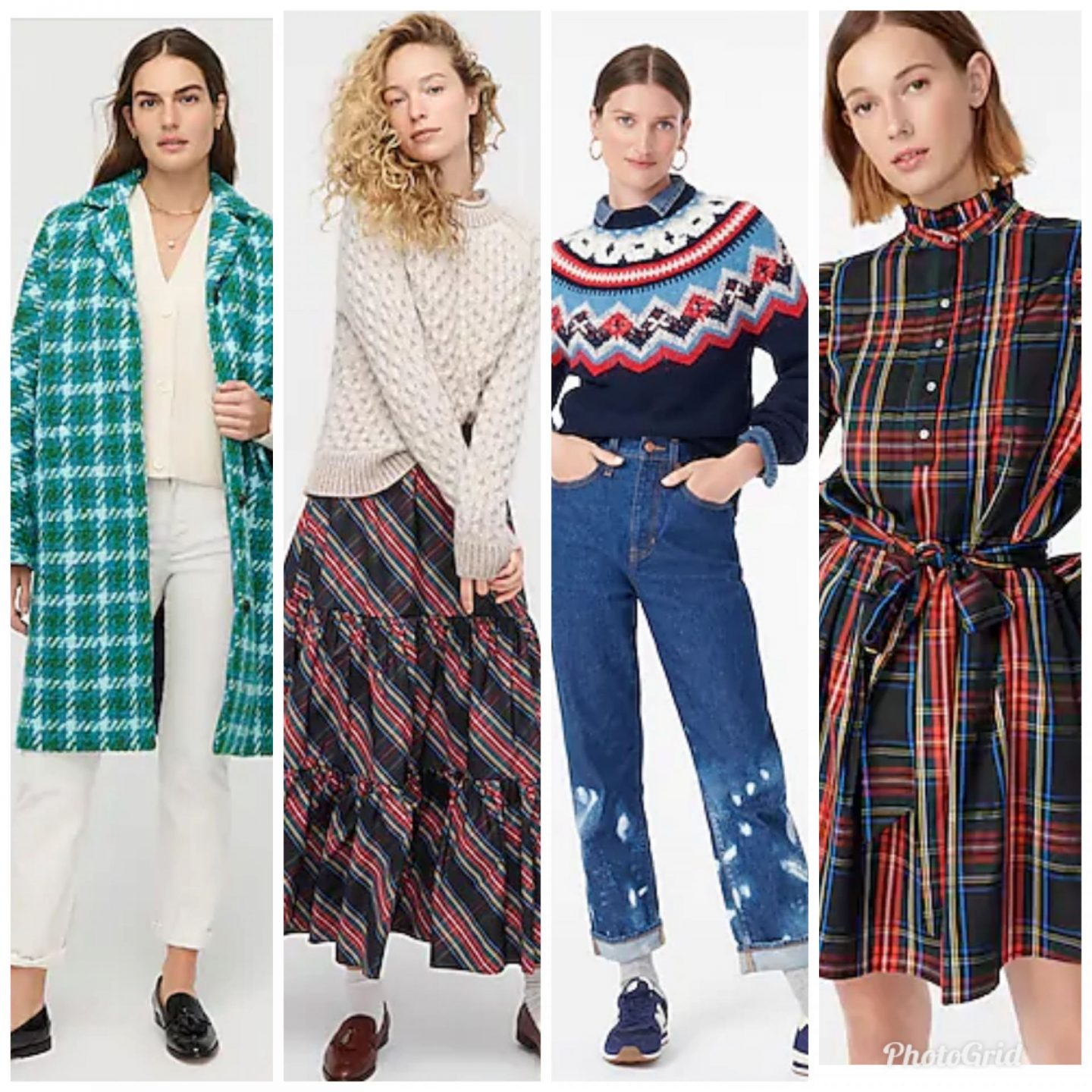 J Crew New Arrivals by popular Kentucky fashion blog, Really Rynetta: collage image of J. Crew holiday clothing.