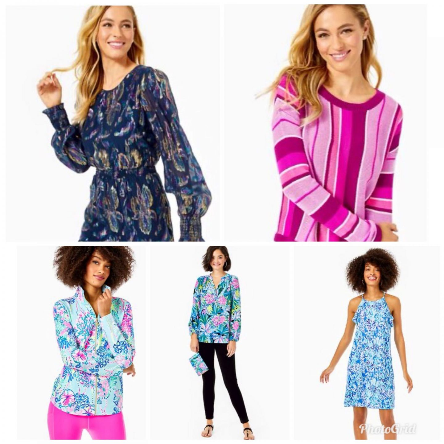 Lilly Pulitzer Sale by popular Kentucky fashion blog, Really Rynetta: collage image of women wearing Lilly Pulitzer clothing.
