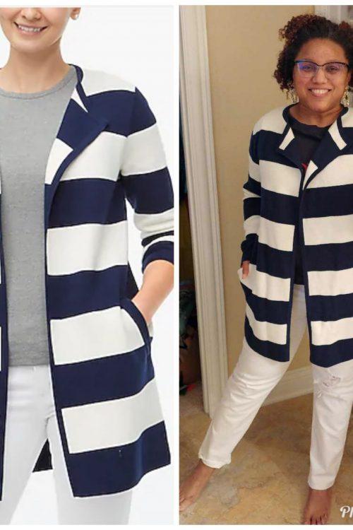 Styling a Striped Sweater-Blazer!